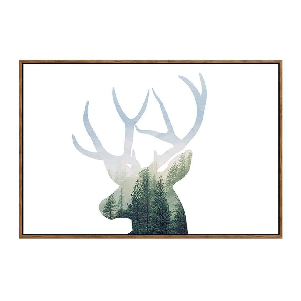 フォトウォールクリエイティブ木製ブラウンギフトモダンアートフォトフレームフォトウォール (サイズ さいず : 52*37 cm) 52*37 cm  B07RSPY89T