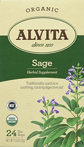 Alvita Sage Tea, Organic, 24 Count (Pack of 3)