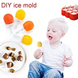 Aogist Reusable ice mold, DIY Ice Cream Maker Kit and Candy Chocolate Mould for Kids, Adults