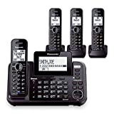 panasonic 2 line cordless phone - Panasonic KX-TG9542B Dect 6.0 2-Line Cordless Phone w/ Link-to-Cell & 2-Handsets + 2-Pack 2 Line Handset For KX-TG954X