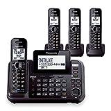 Panasonic KX-TG9542B Dect 6.0 2-Line Cordless Phone System w/ Link-to-Cell & 2 TGA950B