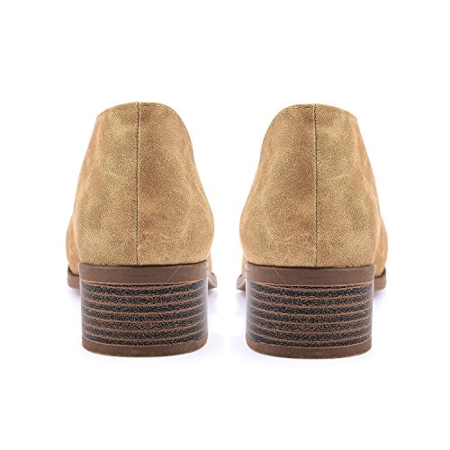 Maybest Women Casual Loafer Shoes Pointed Toe Office Casual Slip-On Ankle Boot Taupe FKu1TrhuSL