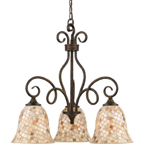 Quoizel MY5103ML 3-Light Monterey Mosaic Dinette Chandelier, 24