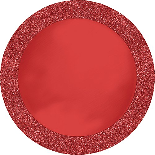 Creative Converting 96 Count Round Paper Placemats, Glitz -