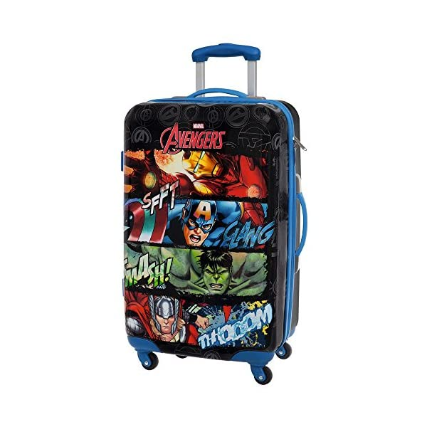 37b95a8b73 Marvel 4411551 Avengers Trolley, ABS, Nero, 67 cm – TravelKit