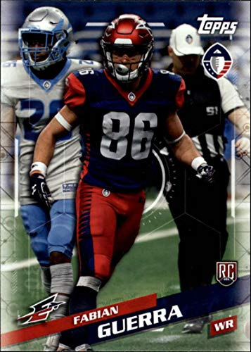 2019 Topps Alliance of American AAF #144 Fabian Guerra RC Rookie Memphis Express Football Trading Card (Card Trading American)