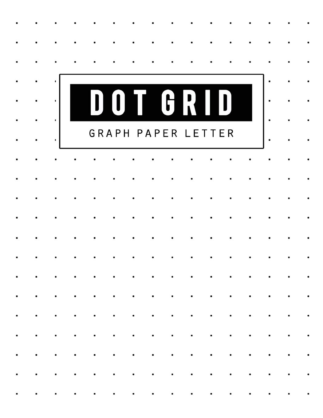 image about A5 Dot Grid Printable referred to as Graph Paper Dot Grid: Letter Dot Paper Blank Graphing