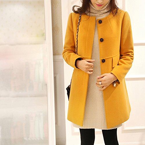 Amazon.com: PiterNace Stylish 4XL Causal Loose Trench Coat Women O-Neck Wool Warm Coats Spring Autumn Red Purple Yellow Female Overcoat Plus Size: Clothing