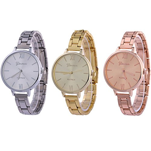 CdyBox Women Ladies Girls Analog Watches Wholesale Assorted Dress Wristwatches Gift Sets (3 Pack) (Wholesale Women Dresses)