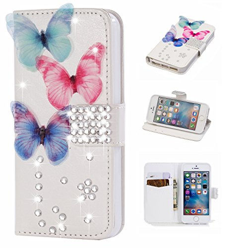 funyye-diamond-wallet-cover-for-iphone-55sluxury-3d-colorful-butterfly-design-crystals-bling-magnetic-flip-case-kickstand-feature-card-slots-soft-silicone-pu-leather-case-for-iphone-55sse