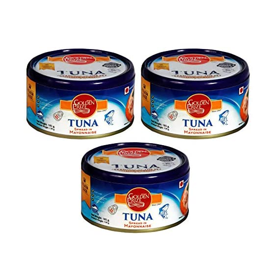 Golden Prize Tuna Spread in Mayonnaise 185Gms Each - Pack of 3 Units