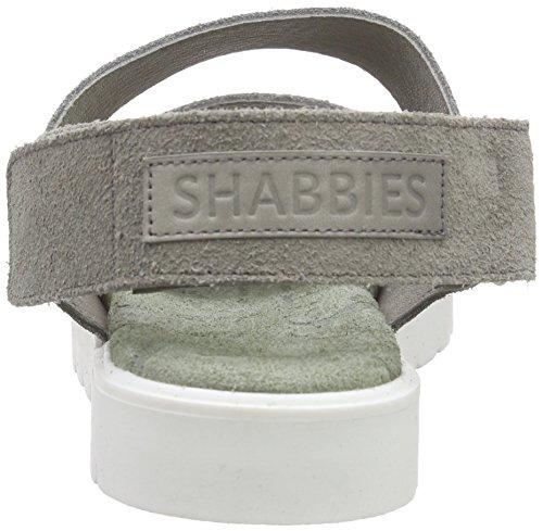 Shabbies Amsterdam Sportsole Wide Strap Sandalet Bernina, Sandali Donna Grigio (Grigio (Grigio))