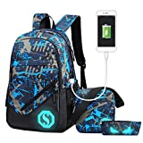 Fantastic Zone Boy Girl School Backpack for Childrens for Middle School, 3...