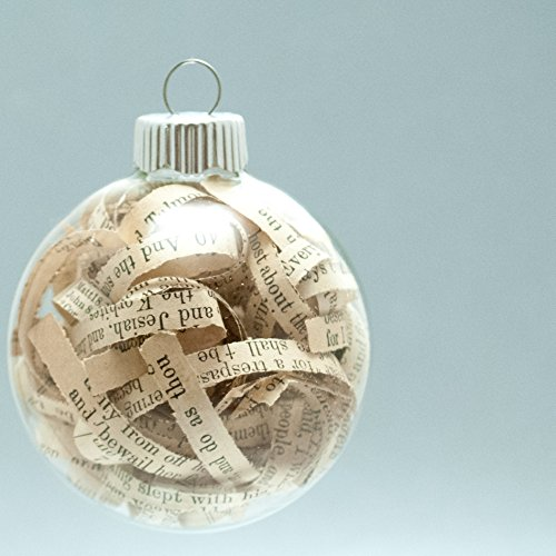 [Antique Bible Christmas Ornament - 2.62 Inch Glass Ornament with 1/4 Inch Strips from 1903 Bible] (Group Costumes For 3 Guys)