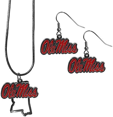 NCAA Siskiyou Sports Womens Mississippi Ole Miss Rebels Euro Bead Earrings One Size Team Color