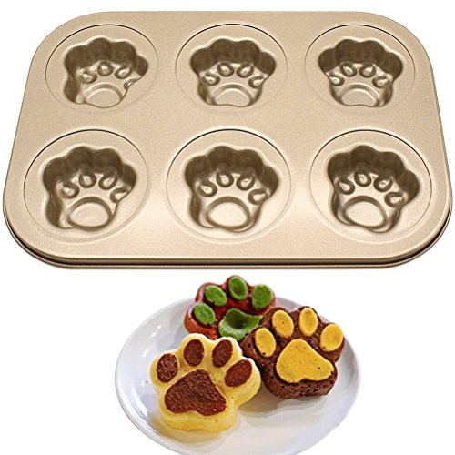 Pumpkin Cake Mold (CSG 2Pcs Nonstick Donut Muffin Pan Baking Desserts Mold Cupcake Dog Claw Style Cake Mold)