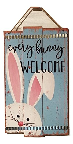 Decorative Wall or Door EVERY BUNNY WELCOME Bunny Themed - Stores Mall Greenbrier