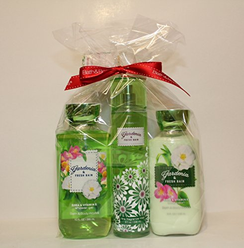 - Bath & Body Works ~ Signature Collection ~*Gardenia & Fresh Rain *~ Shower Gel ~ Fine Fragrance Mist & Body Lotion ~ Trio Gift Set