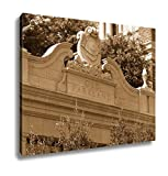 Ashley Canvas Old Parkland C 1894 Is The First Generation Of Parkland Hospital In Dallas, Wall Art Home Decor, Ready to Hang, Sepia, 16x20, AG6379321