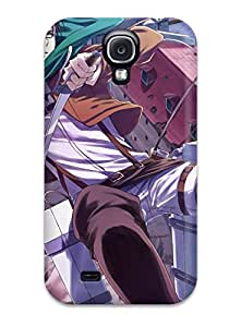 Galaxy S4 Case Cover - Slim Fit Tpu Protector Shock Absorbent Case (attack On Titan)