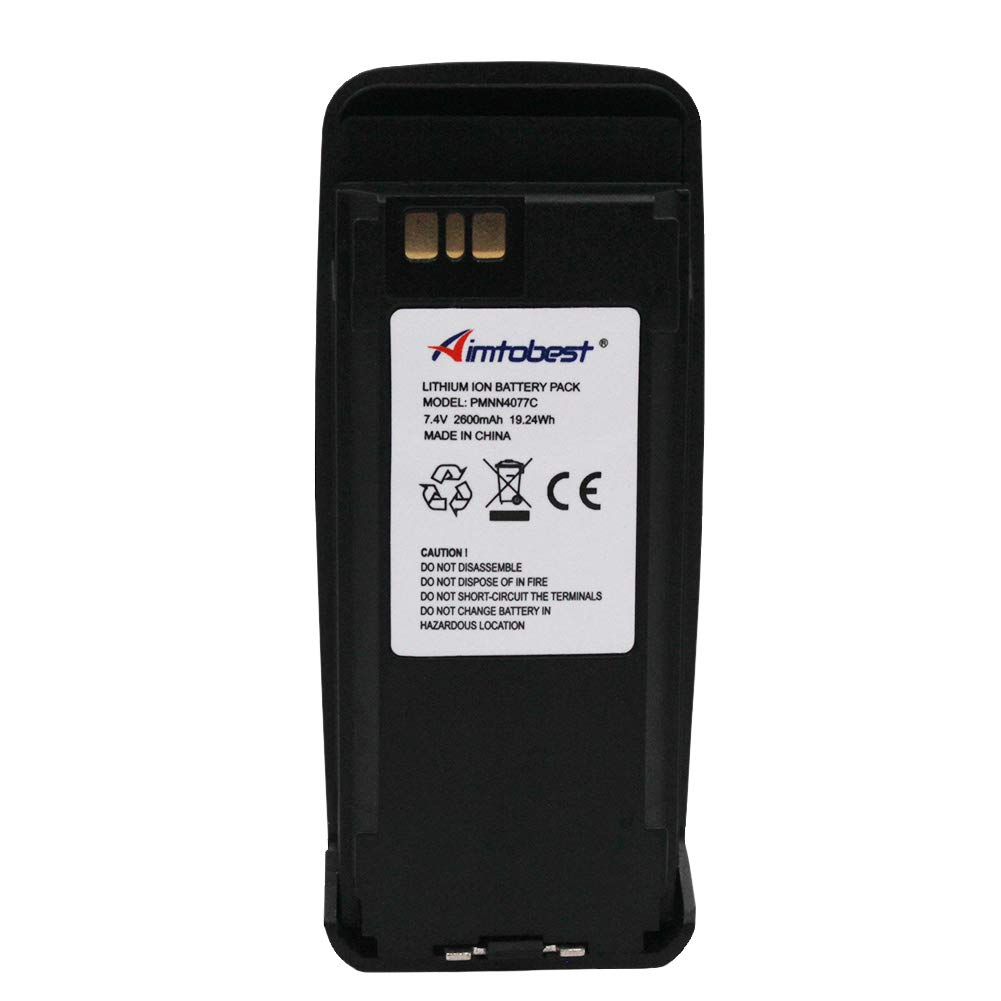 Pmnn4077c Pmnn4065 Pmnn4066a 2600mah Li Ion Two Way Motorola Handy Talky Cp1300 Radio Battery Oem Without Impres Funtion Replacement For Dp3400 Dp3601 Dgp4150