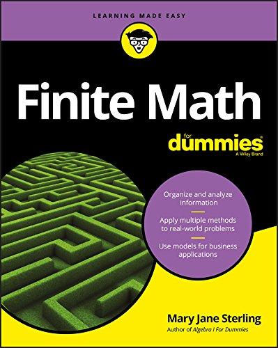 Finite Math For Dummies  English Edition