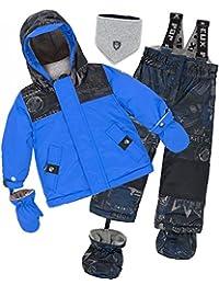 Deux par Deux Little Boys' 2-Piece Snowsuit Hey Mr Dj Blue, Sizes 18-36M