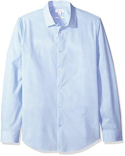 Calvin Klein Men's Infinite Cool Button Down Shirt, Little Boy Blue, L ()