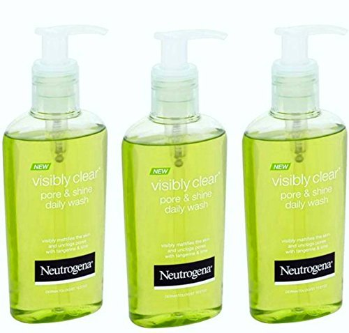 Price comparison product image Neutrogena Visibly Clear Pore and Shine Daily Wash 200ml Pack of 3