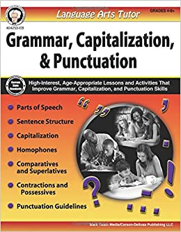 language arts tutor grammar capitalization and punctuation grades 4 8 cindy barden 0044222255848 amazoncom books