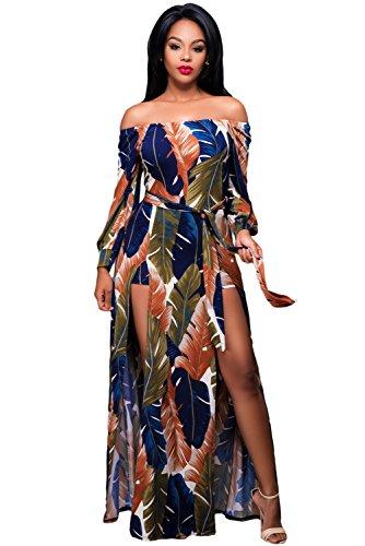 NEW Élégant pour femme coloré imprimé feuille épaules Jupe Grenouillère Taille L UK 12EU 40