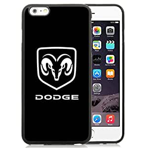 iPhone 6 Plus/iPhone 6S Plus 5.5 Inch TPU Case ,Dodge Logo 1 Black iPhone 6 Plus/iPhone 6S Plus Cover Unique And Durable Designed Phone Case