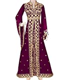 African Boutique Exclusive Muslim Abaya Jalabiya Embroidery Stone African Dress for Women Party Wear Kaftan Wedding Gown Wine