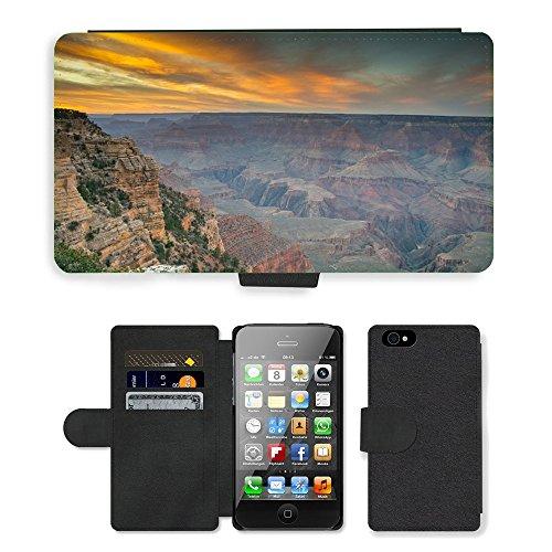 PU Leather Cover Custodia per // M00421769 Grand Canyon Amérique Nationa Célèbre // Apple iPhone 4 4S 4G