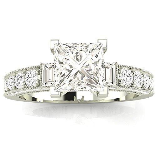 0.6 Ct Princess Diamond - 4