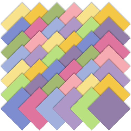 Moda Basics Bella Solids 30's Colors Charm Pack, Set of 42 5-inch (12.7cm) Precut Cotton Fabric Squares (Moda Color)