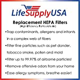 LifeSupplyUSA Hepa Replacement Filter Compatible to Honeywell 21600 Air Purifier
