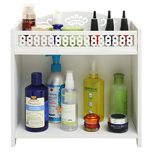 Marvelous 2 Tier White Bathroom Shelf Rack Countertop Storage Download Free Architecture Designs Aeocymadebymaigaardcom
