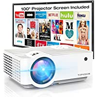 Topvision Full HD 1080p 4500Lux Portable Mini Projector with 100