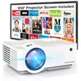 Video Projector, TOPVISION 4500Lux Portable Mini Projector with 100