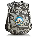 DSOS Boys Camo Army Air Plane Backpack Grey White Black Gray Camouflage Themed