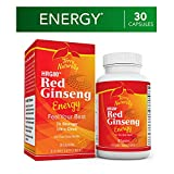 Terry Naturally HRG80 Red Ginseng Energy - 30 Capsules - Energy Support Supplement - Korean Red Ginseng Root Powder, Panax Ginseng, HRG80, Non-GMO, Vegan, Gluten Free - 30 Servings