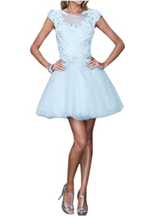 Royaldress Weiss Kurzarm Spitze Festliche Kleider Brautmutterkleider  Abendkleider Mini Cocktailkleider: Amazon.de: Bekleidung