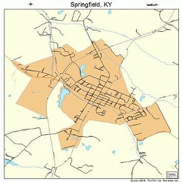 Amazon.com: Large Street & Road Map of Springfield, Kentucky ...