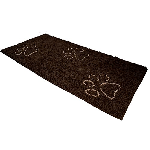 EXPAWLORER Dog Doormat Runner for Dirty Dogs 30-Inch by 61-Inch, Microfiber Absorbent Pet Door Mat, Brown