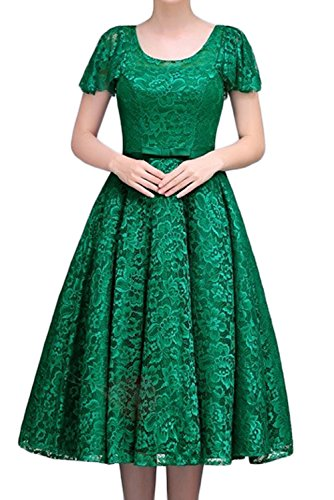 Sunvary Graceful Mother Of The Bride Dress Jewel Tea Length Lace Up With Sleeve