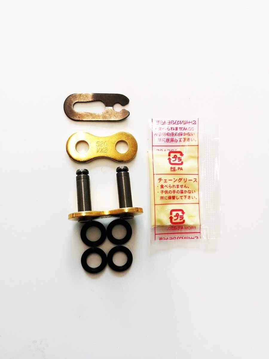 Kettenschloss Clipschloss Für Did Kette 520 Vx2 X Ring Doppelt Verstärkt Gold Auto