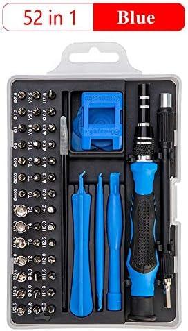 HUANRUOBAIHUO 1精密ドライバーセット多機能クロームバナジウム鋼スクリュードライバーハンドツールセットで115/110/52/32/25 クワッドローターアクセサリー (Color : Blue 52 in 1)