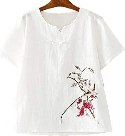 La camiseta de las mujeres, vintage estilo chino camiseta ...