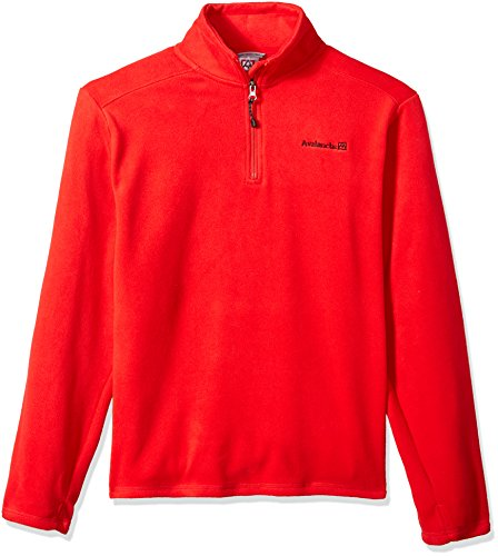 Avalanche Boys' Big' Quarter Zip Fleece Pullover, Alpine Red, 10/12